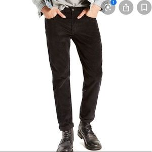 Levi's 511 Skinny Black Corduroy Pants